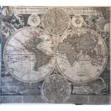 Mappemonde HOMMAN 1750, Coloris anciens