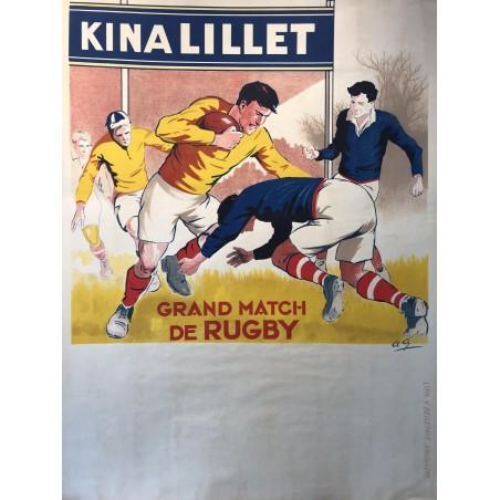 Grand match de Rugby, Kina Lillet, 1930