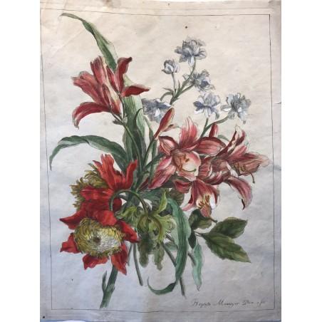 J B MONNOYER, bouquet de fleurs