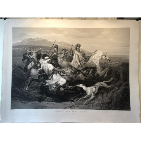 Chasse aux sangliers dans la plaine de Sahara, Horace VERNET 1836
