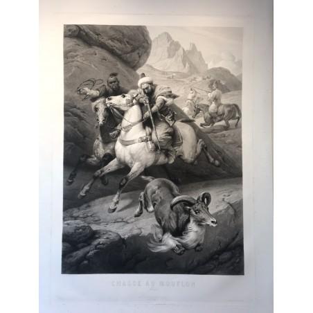 Chasse au mouflon, Maroc, Horace Vernet 1859