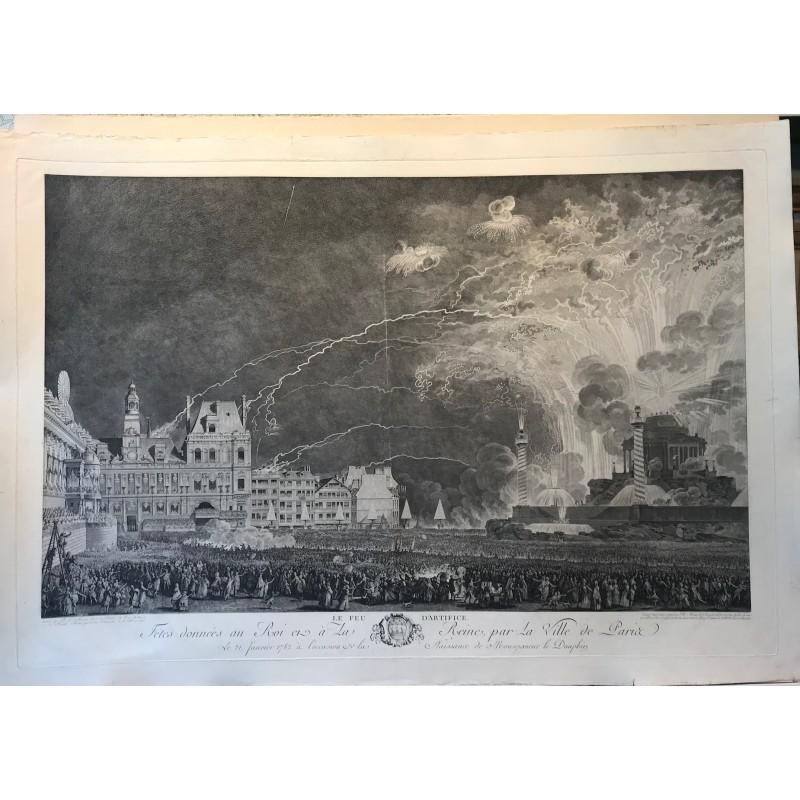 Le feu d' artifice JM MOREAU, 1782