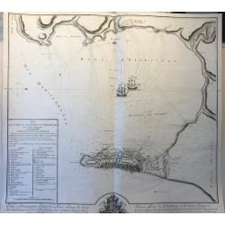 Plan de la ville  et des forts de Gibraltar, CH. MAUGEIN 1782