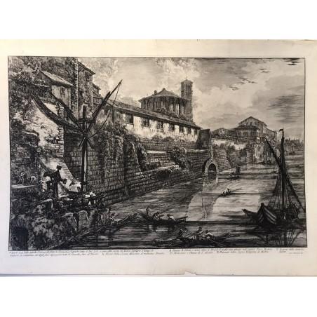 Veduta della antiche sostruzioni fatte de tarquinio superbo dette il bel LIDO