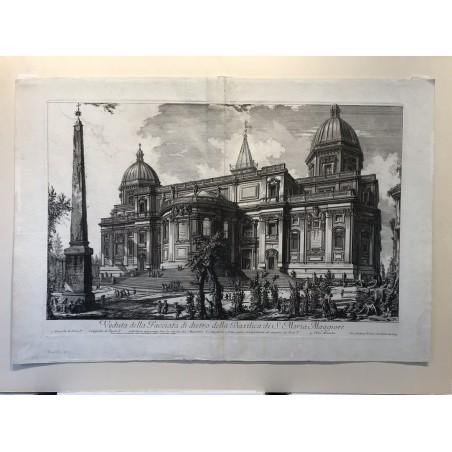 Veduta della facciata di dietro della Basilica di S Maria Maggiore