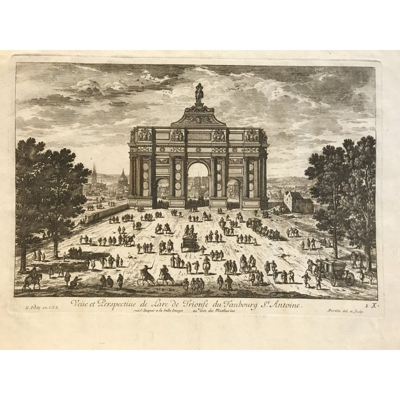 G.Perelle, arc de triomphe faubourg Saint Antoine