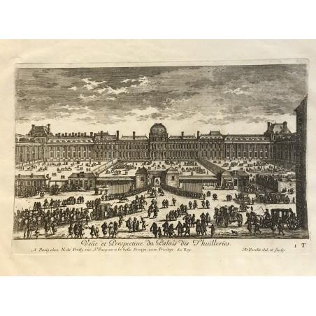 Vue et perspective du Palais des Tuileries.