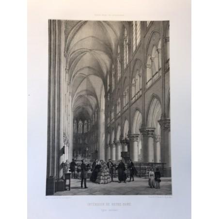 Interieur de Notre Dame, PAris dans sa Splendeur, 1861