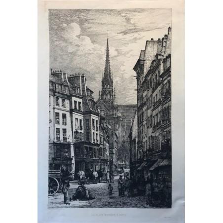 La flêche de Notre Dame, 1880