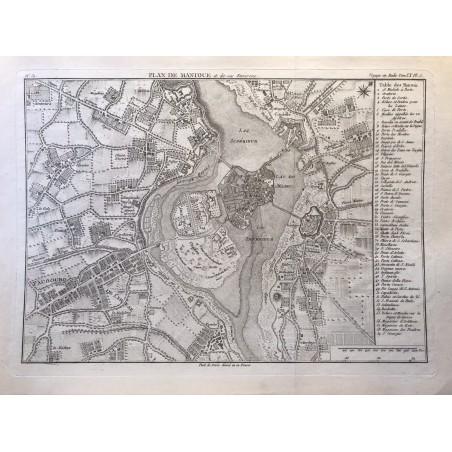 Plan de Mantoue et ses environs  , De la Lande ,1790, voyage en Italie