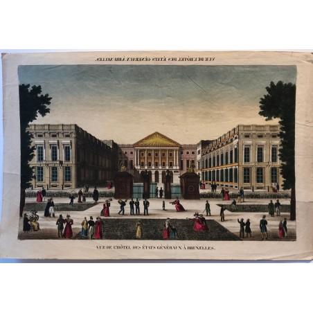 Vue de l'hôtel des états généraux de Bruxelles