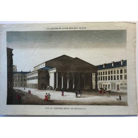 Vue du théâtre royal à Bruxelles