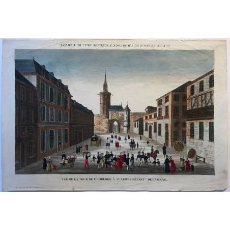 Vue de la tour de l' horloge à Auxerre