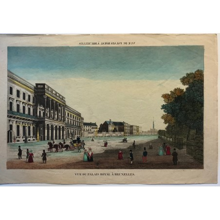 Vue du palais Royal à Bruxelles