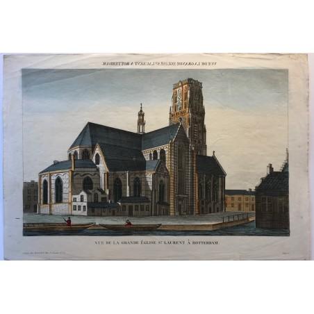 Vue de l'église St Lauren à Rotterdam