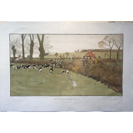 The Cottesbrook Hunt , Nearing the end, Cecil Aldin, 1900