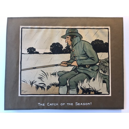 Les 12 sports, the catch of the season! Cecil Aldin, 1901