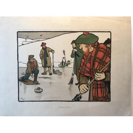 Les 12 sports, Curling, Cecil Aldin, 1901