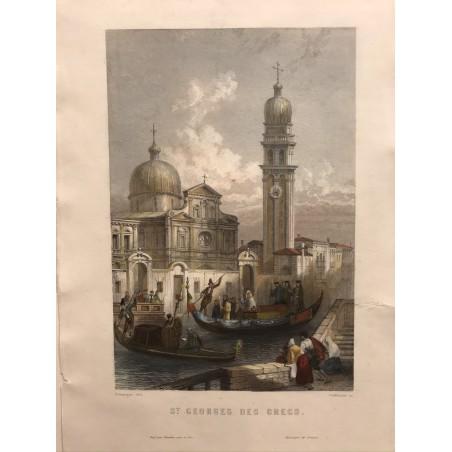 Venise, Galibert, 1854, St Georges de Grecs