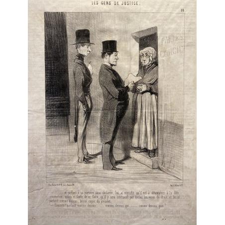 Daumier, les gens de justice
