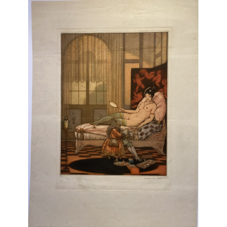 André Lambert, Nu au sofa, 1921.