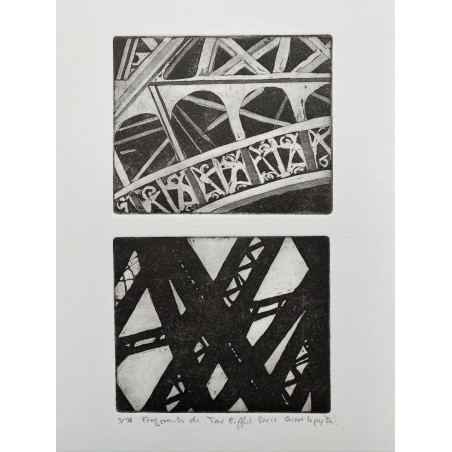 Corinne LEPEYTRE, Fragments de Tour Eiffel, Paris.