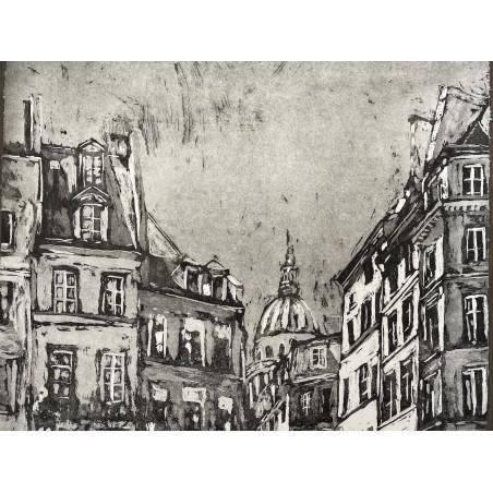 Corinne LEPEYTRE, Rue de la montagne Sainte Geneviève, Paris.