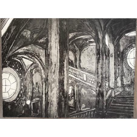 Corinne LEPEYTRE, Escalier Le Fuel, Louvre, Paris.