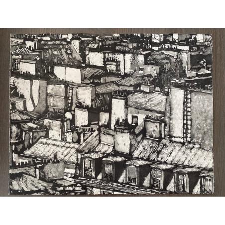 Corinne LEPEYTRE, Ballade au fil des toits 1, Paris.