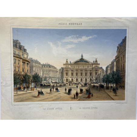 Paris nouveau, le grand Opéra, 1860, CH fichot.