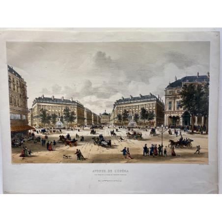 Avenue de l'Opéra, vue prise du théâtre Français, 1860.