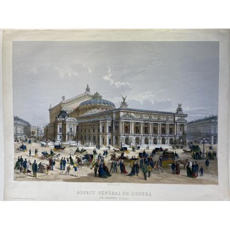 Aspect général de l' Opéra, Ch Garnier Architecte, 1875