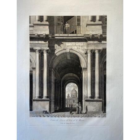 Louis Pierre BALTARD, Le Louvre, 1803.