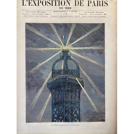 Le phare électrique de la Tour Eiffel, 1889