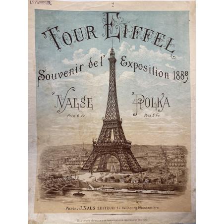 Tour Eiffel, souvenir de l'exposition,1889.
