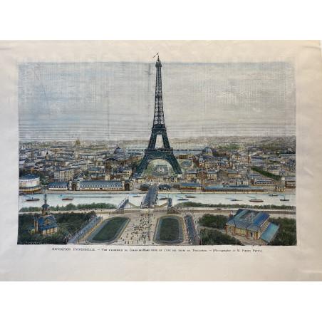 Exposition universelle, vue d' ensemble du champs de Mars prise de l' une des tours du Trocadéro