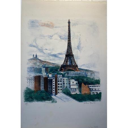 La tour Eiffel, vers 1960