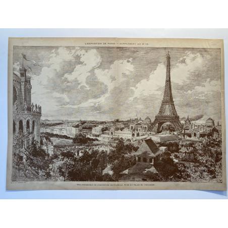 Vue d'ensemble de l' exposition universelle, prise du palais du Trocadéro, 1889