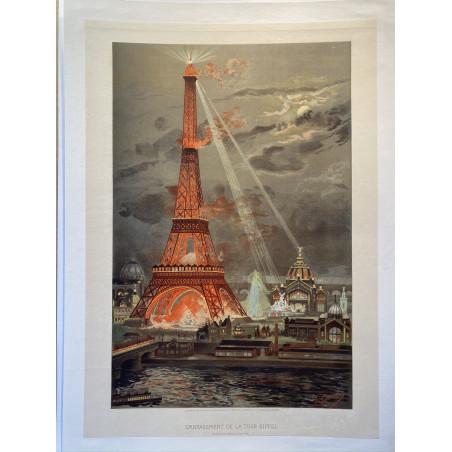 Embrasement de la tour Eiffel, 1889