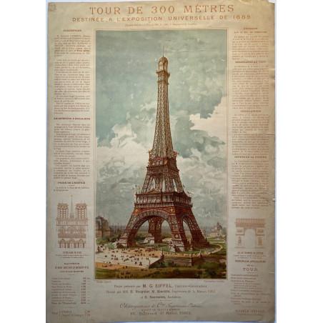 Tour de 300 mètres, destinée à l'exposition  Universelle de 1889