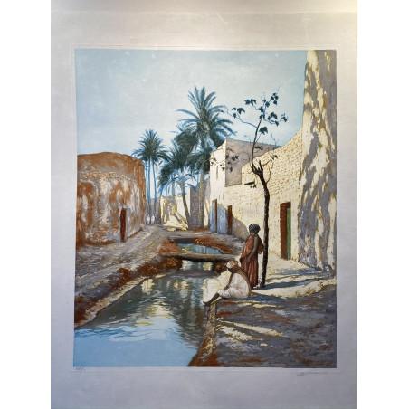 Scène orientaliste, Charles MANCIET.