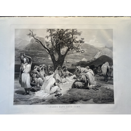 Arabe dans leur camp, écoutant une histoire, Horace Vernet, 1844