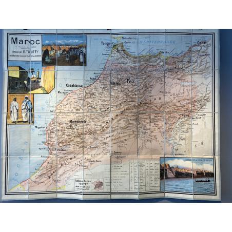 Carte du Maroc, Toutey Géographe, 1913