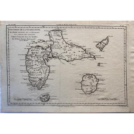 Les iles de la Guadeloupe,Rigobert Bonne, 1770
