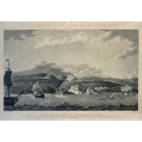 View of Fort Bourbon and louis in the island of martinique, 1796