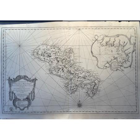 Carte réduite de la Martinique, Bellin, 1773, Neptune Français