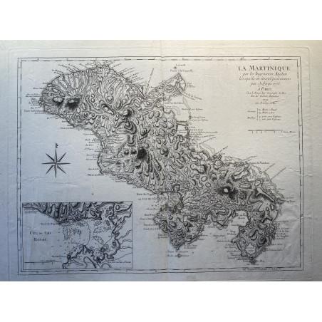 La Martinique par les ingenieurs Anglais, Jeffery's 1775, Le Rouge 1779
