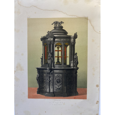 A Cabinet, lithographie, 1900