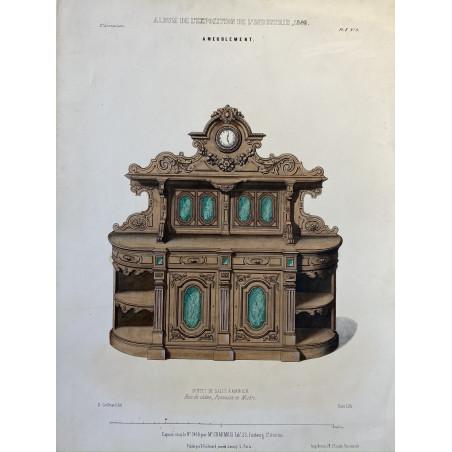 Buffetde salle à manger, lithographie, 1849