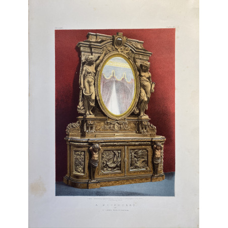A sideboard, lithographie, 1900